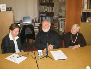 о. Михаил на встрече в Москве, 2008 г.
