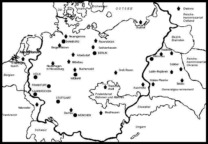 Карта концлагерей Третьего