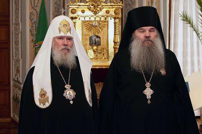 Патриарх Алексий II и арх. Матфей (Мормыль). Фото:bogoslov.ru