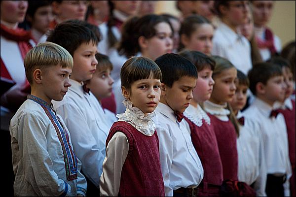 Детский хор Школы духовного пения при храме св. мц. Татианы