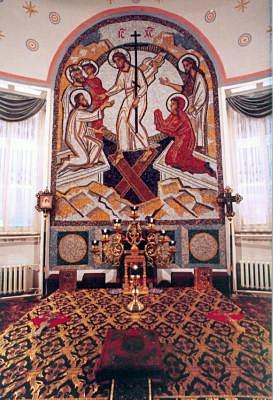 1999 год. В алтаре храма св. мчц. Татианы установлена мозаичная икона Воскресения Христова