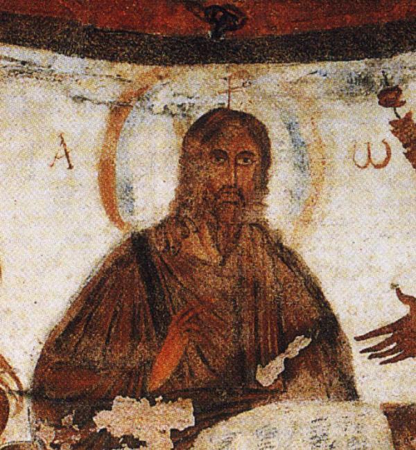 Христос Вседержитель. Римские катакомбы, III в.
