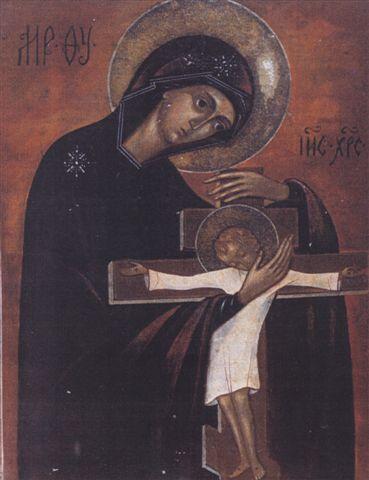 Копия иконы, вышитой м. Марией в лагере. С.А.Раевская-Оцуп. 1950-е гг.