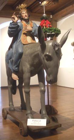 Деревянная фигура для процессий Вербного воскресенья. Германия, конец XVII в