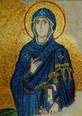 Мозаика ц. Успения в Дафни. Ок.1100 г. Греция. Фрагмент