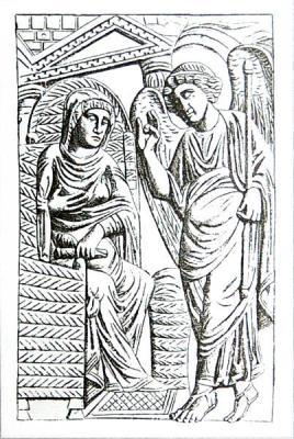 Кафедра архиеп. Максимиана. 546-556 гг. Архиепископский музей, Равенна. Фрагмент
