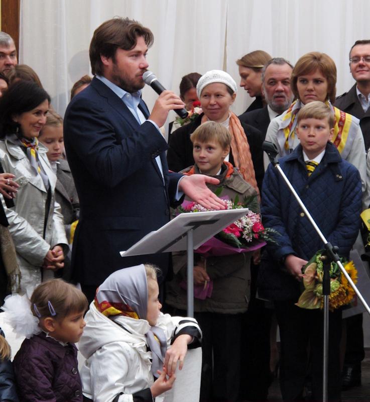 Константин Малофеев в гимназии святителя Василия Великого