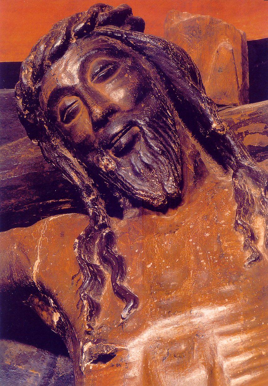 Так называемый «Улыбающийся Христос». Распятие замка Хавьер в Наварре. XV в.
