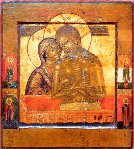 Икона «Не рыдай Мене, Мати» (иначе именуемая «Царь славы»). Россия, конец XVIII – начало XIX вв.