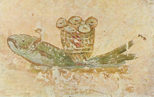 Евхаристический символ рыбы. Изображение рыбы из катакомб св. Каллиста