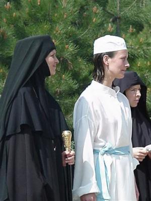 Крещение соученицы Игумении Диодоры по колледжу