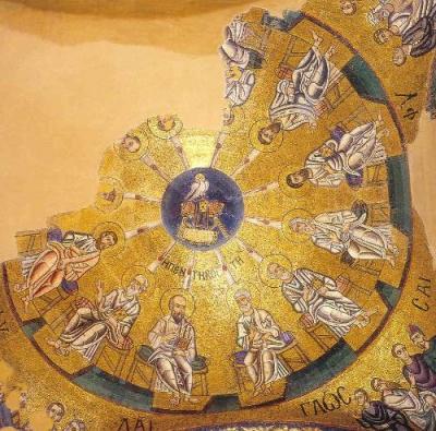 Мозаика купола церкви Осиос Лукас. Фокиде. Ок.1000г.