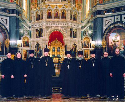 Духовенство Храма Христа Спасителя