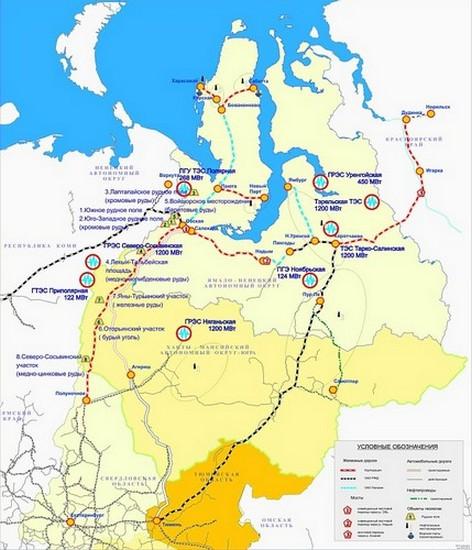 Карта будущих железных дорог в