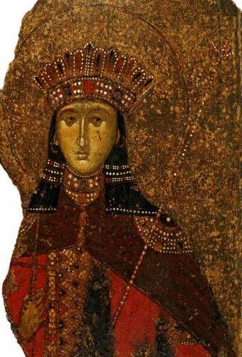Великомученица Екатерина. XIV век. Греция, Византийский музей, Афины.