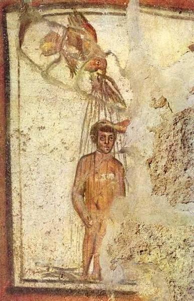 Фреска римских катакомб. III в.