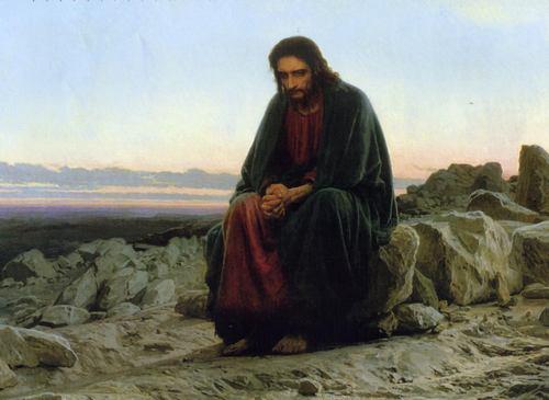 Христос в пустыне. Картина И. Крамского
