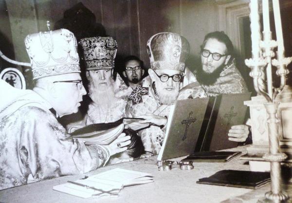 Хиротония униатского епископа Андрея (Каткова) в Руссикуме. 1958 г.