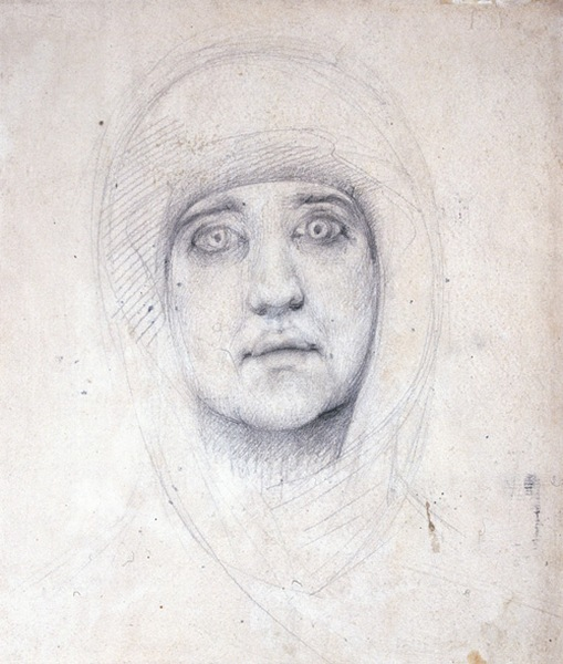 Голова женщины. М. Врубель