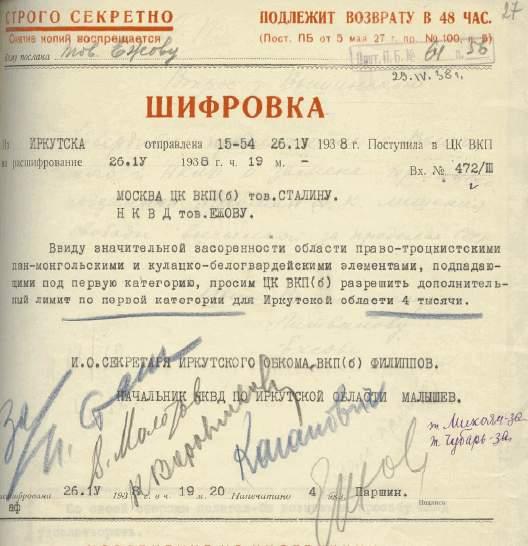 телеграмма с просьбой увеличить лимит