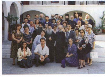 Старец Иаков (Цаликис) и паломники в монастыре преподобного Давида