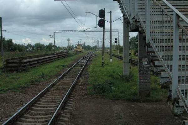 Железнодорожные пути от станции Александровская