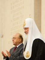 Патриарх в МГУ: докторская речь Святейшего, одиночный 'митинг' и скромная балаклава (ФОТО)