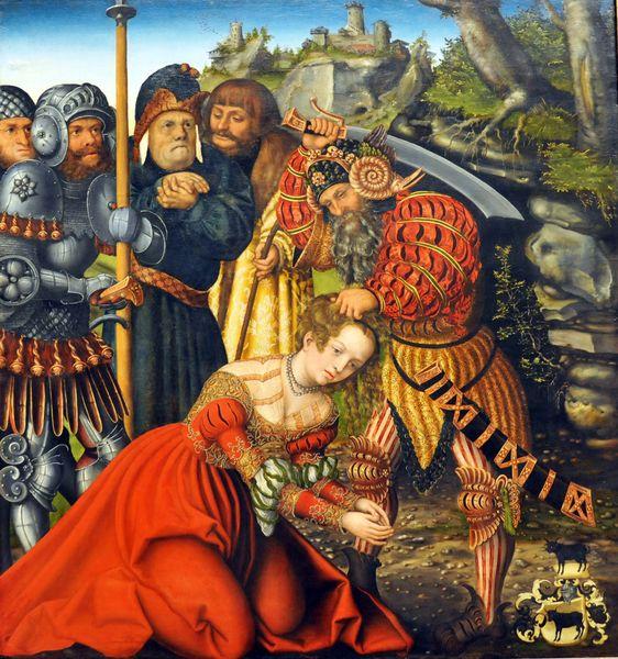 Лукас Кранах Старший. Страдания Святой Варвары