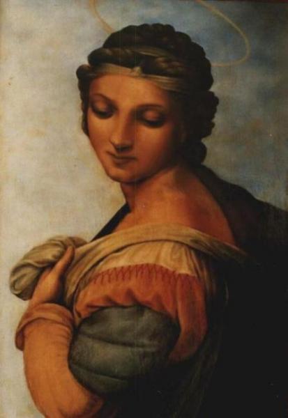 Святая Варвара (Фрагмент картины Рафаэля)