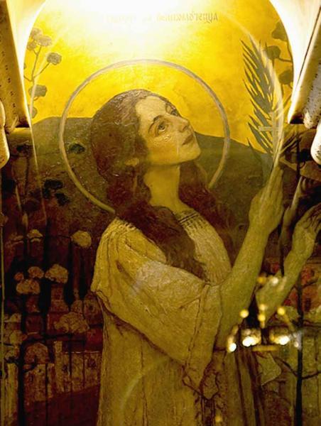 М. Нестеров. Святая Варвара (стенная роспись Владимирского собора)
