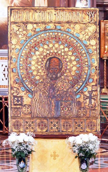 Образ святителя Николая из города Бари