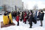 На месте строительства нового храма при МГУ отслужен первый молебен с акафистом Кириллу и Мефодию