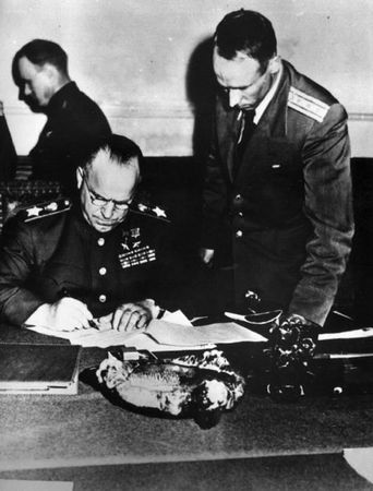 Подписание Акта о безоговорочной капитуляции фашистской Германии