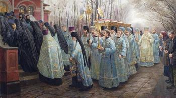 Филипп Москвитин: Перенесение мощей Патриарха Тихона http://www.moskvitin.ru/