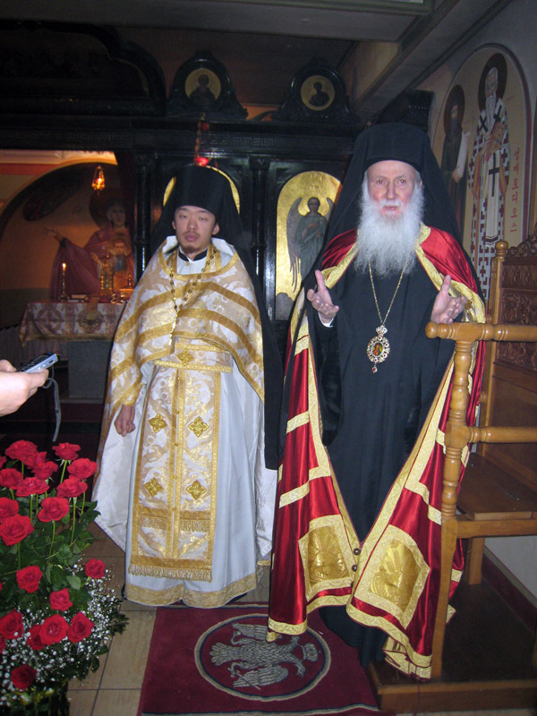 митрополит Сотирий и игумен Феофан